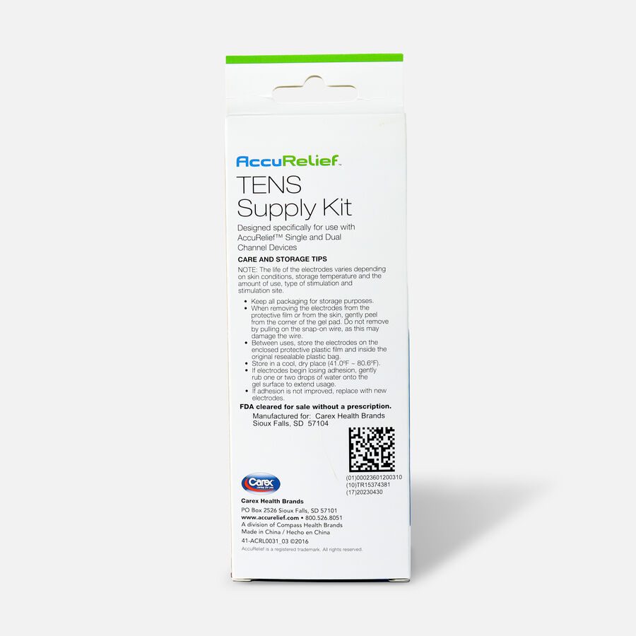 AccuRelief TENS Supply Kit, , large image number 1