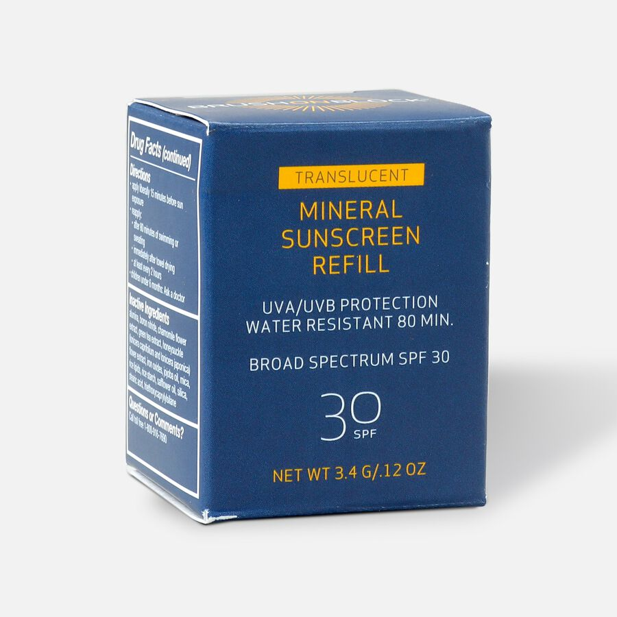 Brush on Block Facial Mineral Sunscreen SPF 30 Powder Refill, 3.4 g, , large image number 4