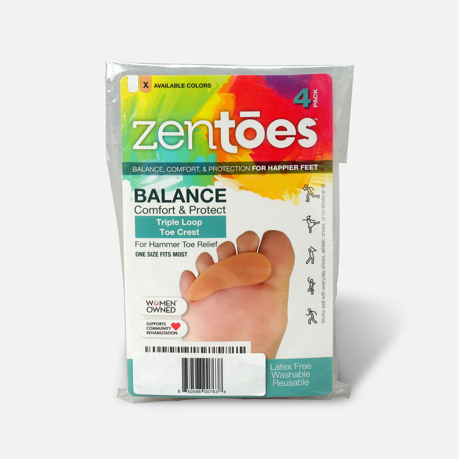 ZenToes Hammer Toe Crests with 3 Loops - 4 Pack, , large image number 0