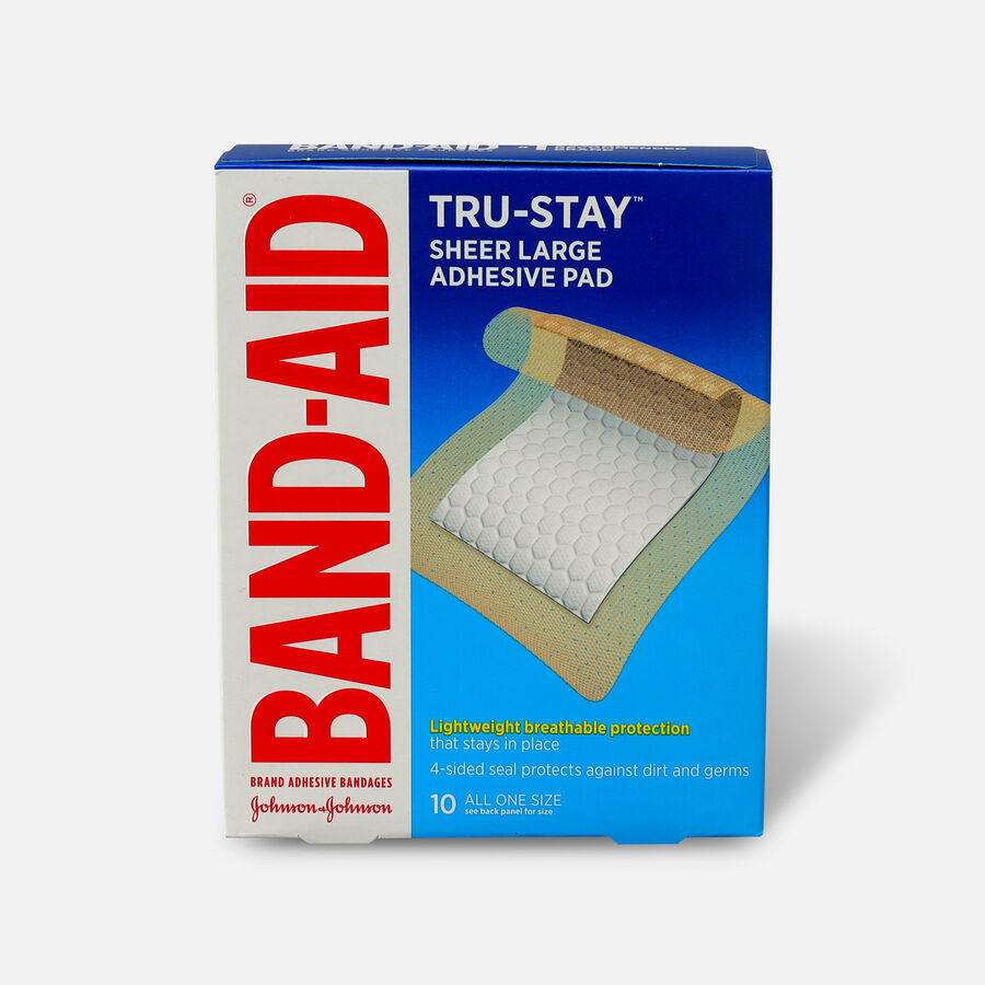 Band-Aid Tru Stay Large Adhesive Pads - 10 ct, , large image number 0