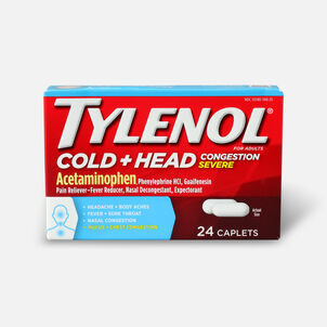 Tylenol Cold + Head Congestion Severe Medicine Caplets, 24 ct.