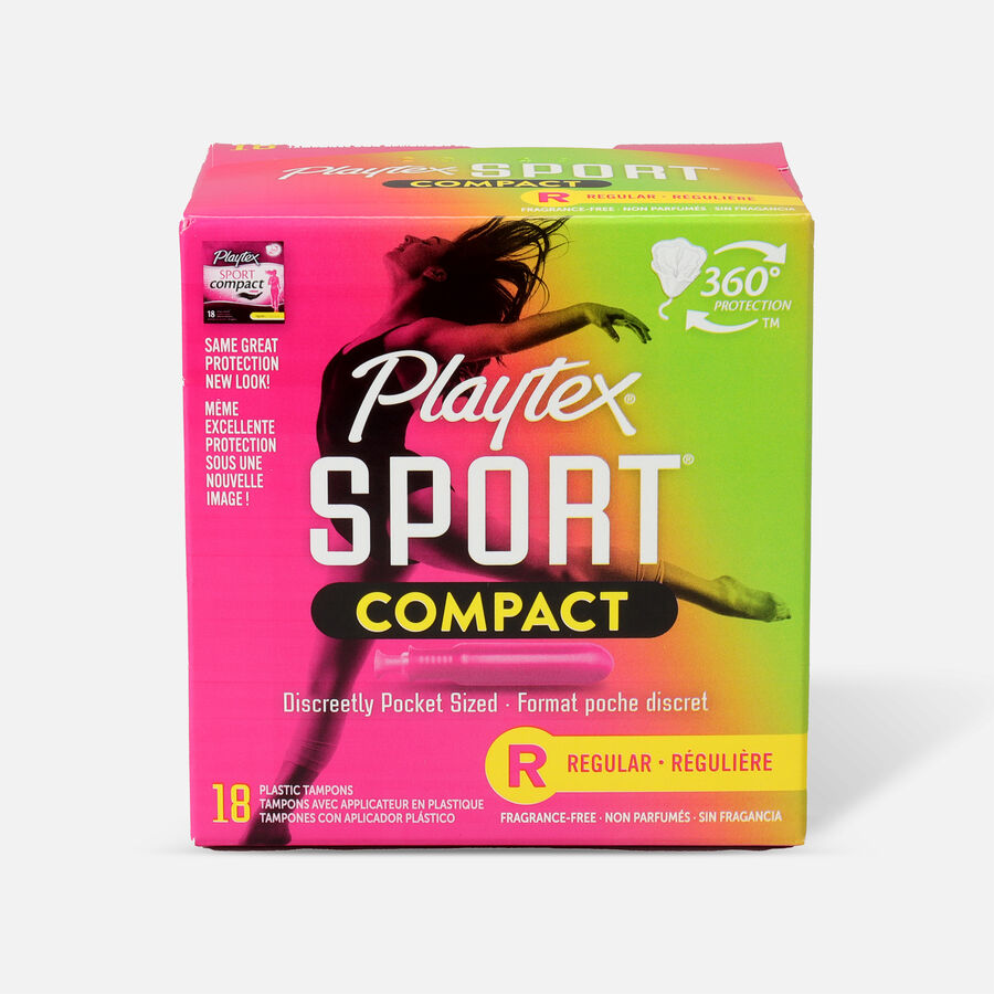 Playtex Sport Compact Tampons, Unscented, , large image number 2