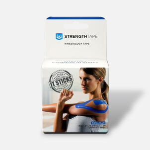 StrengthTape Kinesiology Precut Tape, Royal Blue, 20 ct