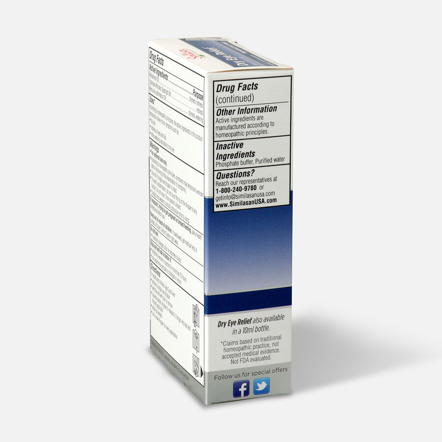 Similasan Dry Eye Relief, 20 Single Use Droppers, 0.014 fl. oz., , large image number 3