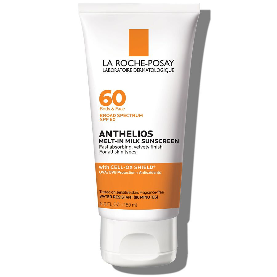 La Roche-Posay Anthelios 60 Body and Face Sunscreen Melt-In Milk Lotion, SPF 60 with Antioxidants, 5 Fl. Oz., , large image number 0