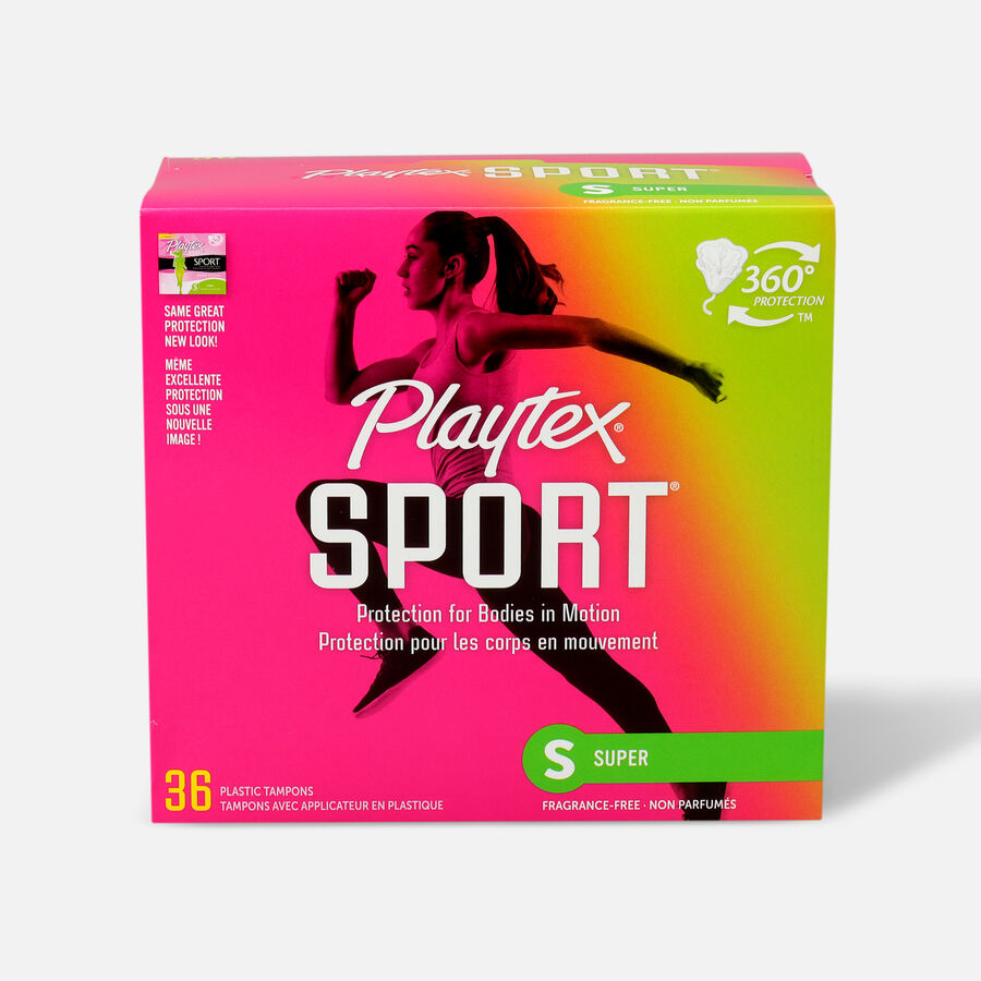 Playtex Sport Super Tampons, Unscented, 36ct, , large image number 0