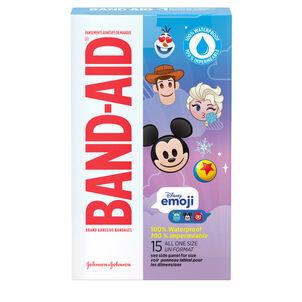 Band-Aid Disney Emoji Waterproof Bandages - 15ct