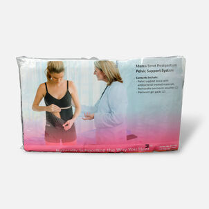 Mama Strut Postpartum Support Pelvic Binder with Ice/Heat Therapy, Black