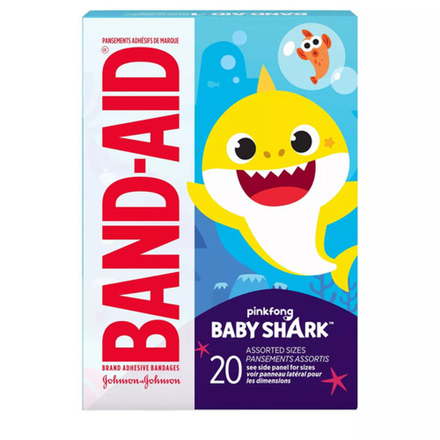 Band-Aid Baby Shark Assorted Bandages, 20ct., , large image number 0
