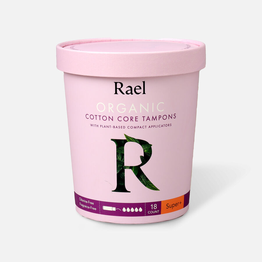 Rael Organic Cotton Core Tampons with Plant Based Compact Applicators, , large image number 6
