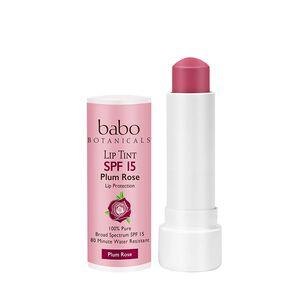 Babo Botanicals Tinted Lip Conditioner, SPF 15, Plum Rose, .15 oz