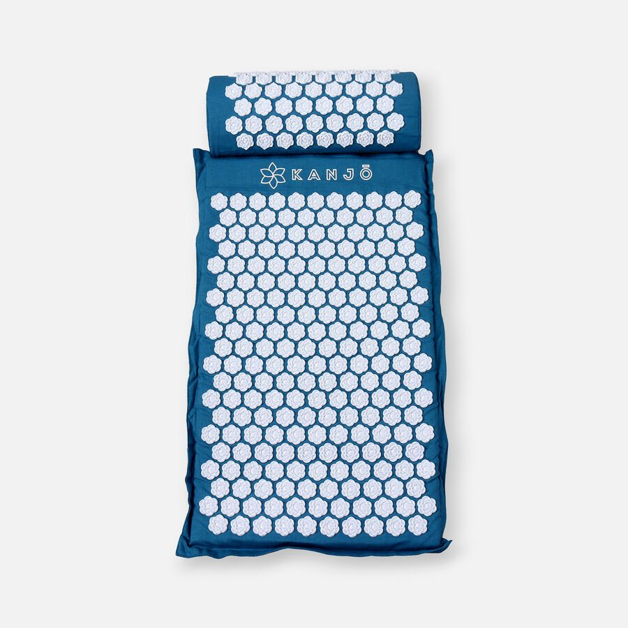 Kanjo Memory Acupressure Mat Set with Pillow, Sapphire, , large image number 0