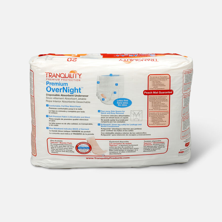Tranquility Premium OverNight Disposable Underwear, , large image number 7