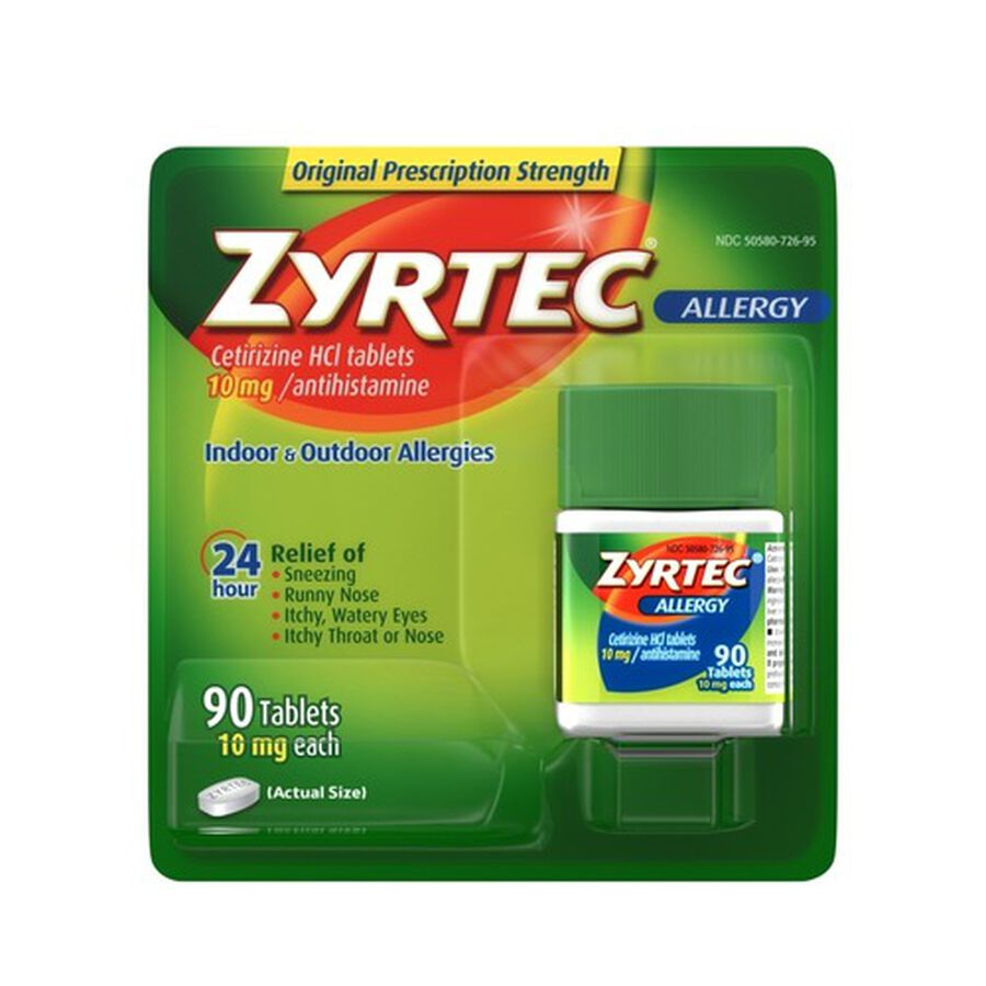 Zyrtec Adult Allergy Relief Tablets, 10mg, , large image number 1