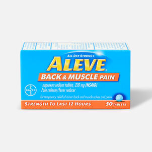 Aleve Back & Muscle Pain, 50ct