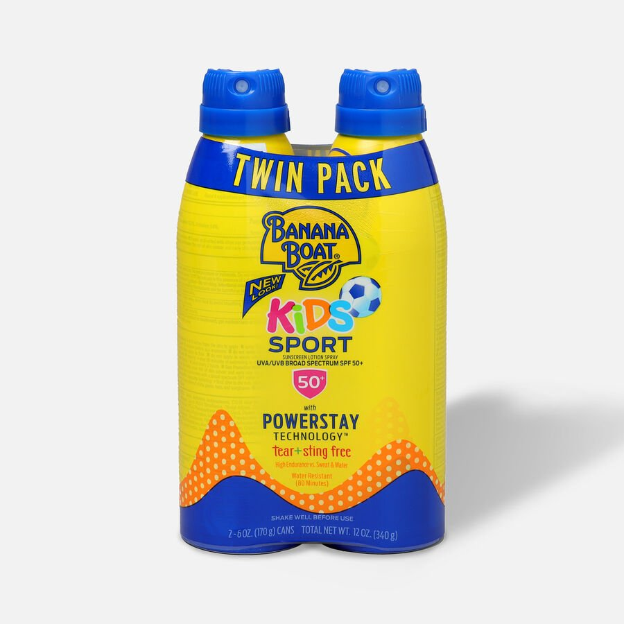 Banana Boat Kids Sport Sunscreen Spray SPF 50+, 12oz - Twin Pack, , large image number 0