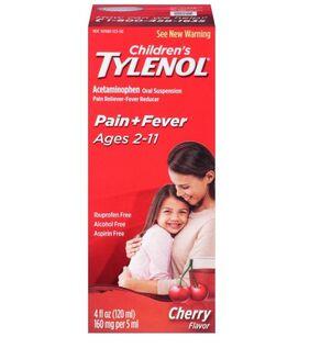 Children's Tylenol Fever Reducer & Pain Reliever, Ages 2-11, Cherry Blast, 4 fl oz