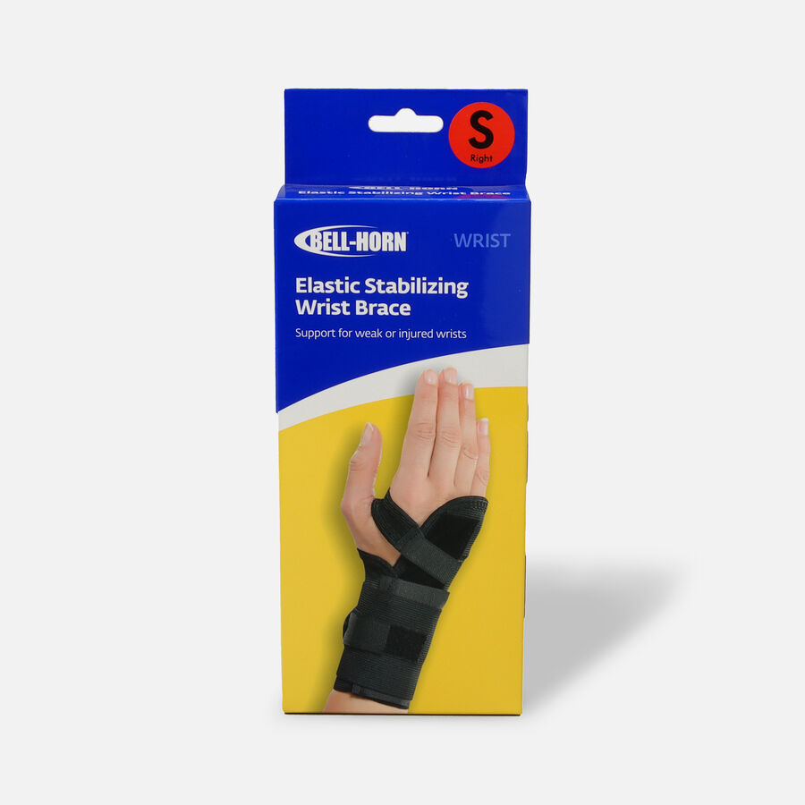 Bell-Horn Elastic Stabilizing Wrist Brace, Right, Small, , large image number 0