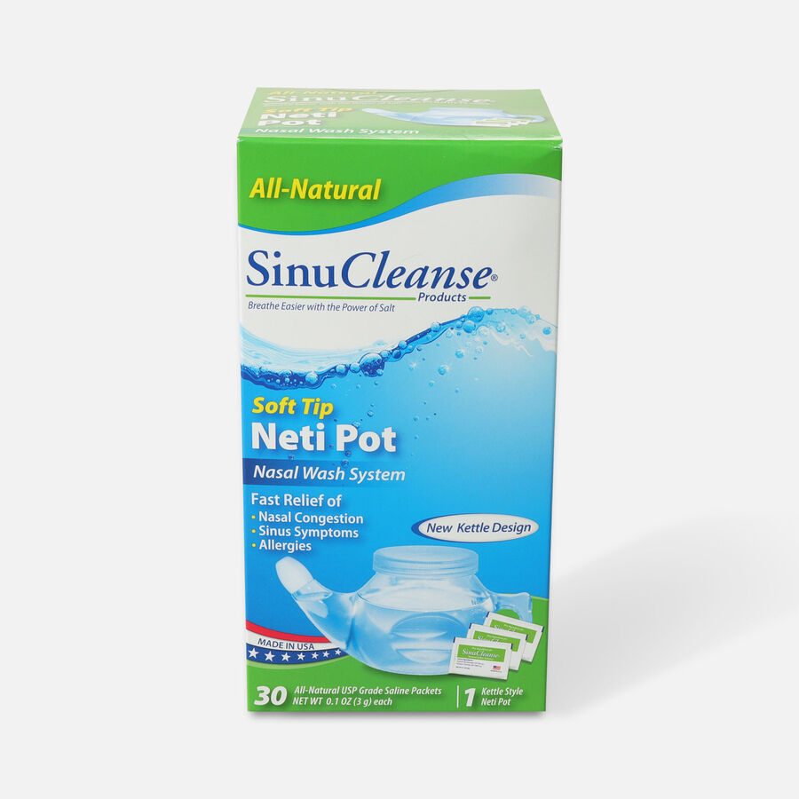 SinuCleanse Neti Pot All Natural Nasal Wash System, 1 ea, , large image number 0