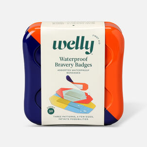 Welly Waterproof Bravery Badges Assorted Waterproof Bandages - 39ct