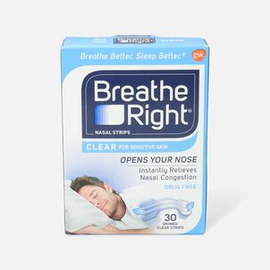 Breathe Right, Clear Strips, SM/MED, 30 ct.