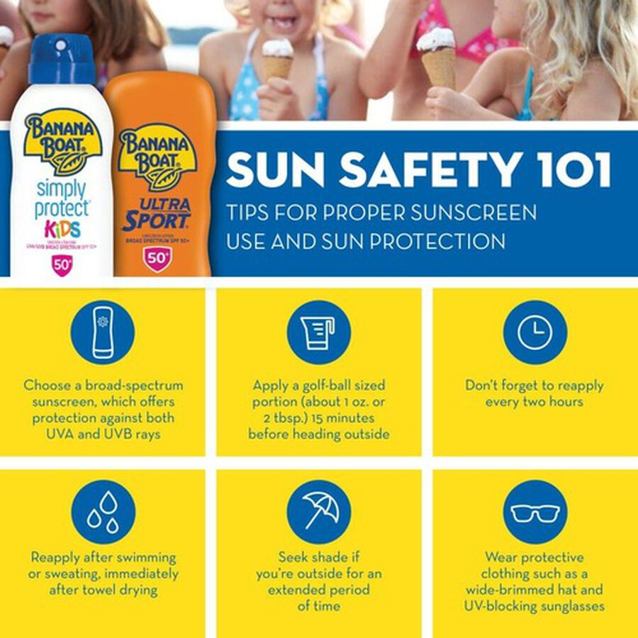 Banana Boat Ultra Sport Clear Sunscreen Spray SPF 50+, 6oz, , large image number 4