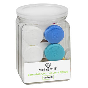 Caring Mill™ Tight-Top™  Contact Lens Cases, 12-Pack Jar