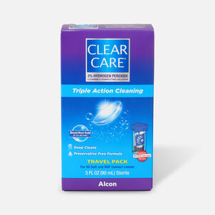 Clear Care Triple Action Cleaning Contact Travel Pack 3 oz