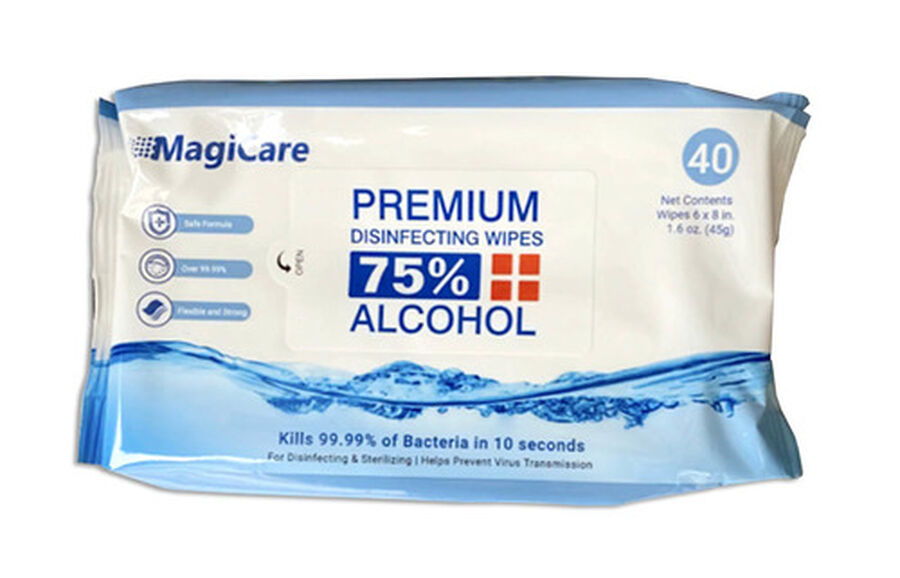 MagiCare Premium Disinfecting Wipes, 75% Alcohol  (Pack of 40), , large image number 0
