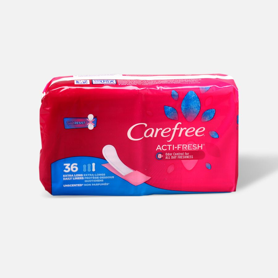 Carefree Acti-Fresh Extra Long Pantiliners, Unscented, 36ct, , large image number 0