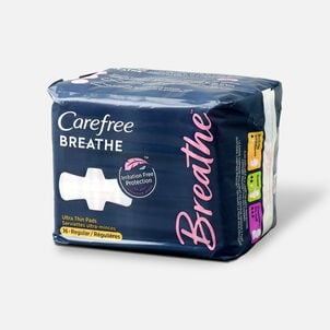 Carefree Breathe Ultra Thin Regular Pads with Wings