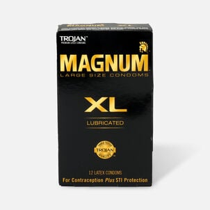 Trojan Lubricated Latex Condoms, Magnum XL, Extra Large 12 ea