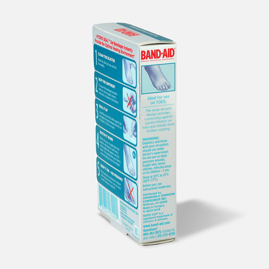 Band-Aid Hydro Seal Adhesive Blister Toe Bandages, 8 Count, , large image number 4
