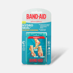 Band-Aid Hydro Seal Bandages Blister Cushion, Variety Pack 5 Count