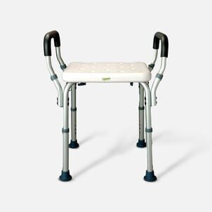 Essential Medical Deluxe Molded Shower Bench with Arms