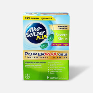 Alka-Seltzer Plus PowerMax Gels, Severe Sinus, Allergy & Cough, 24ct