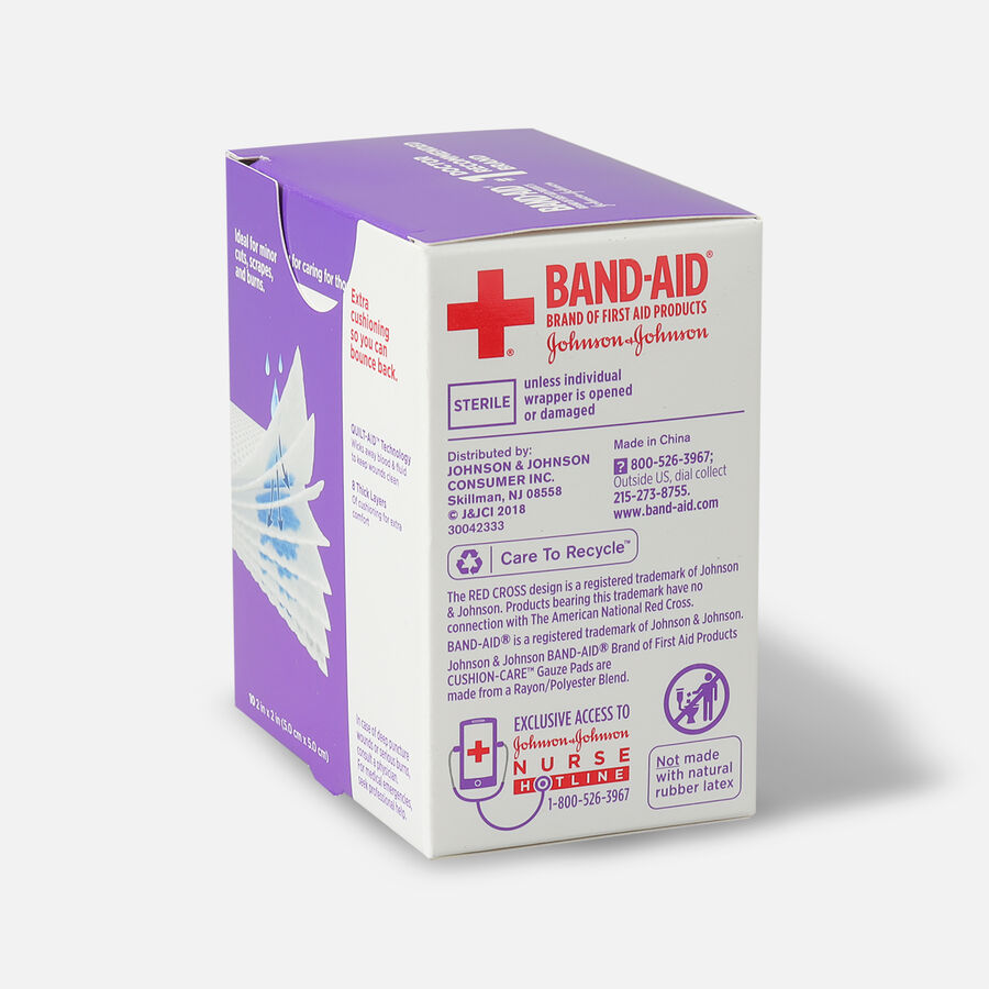 Band-Aid First Aid Gauze Pads 2x2, 25 ea, , large image number 4