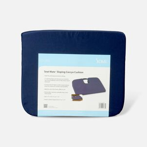 Foam Seat Cushion for Coccyx Support, 18 x 14 x 1.5 to 3 inches, Navy
