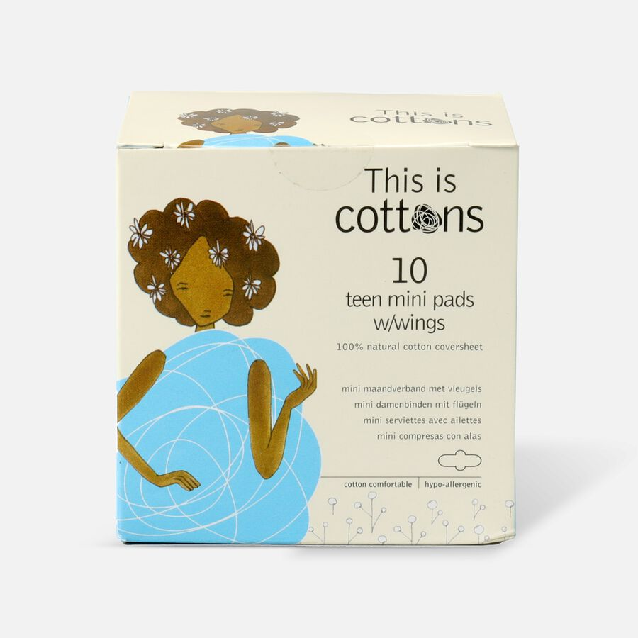 Cottons Teen Pads with Wings, 10ct, , large image number 0