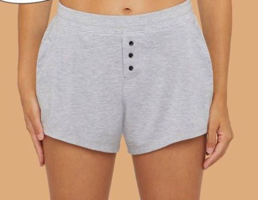Thinx Period Proof Sleep Shorts, Grey, XS, , large image number 1