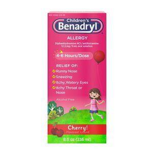 Children's Benadryl Oral Solution, Cherry Flavored, 8 fl. oz.
