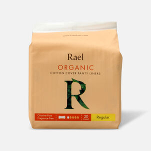 Rael Organic Cotton Cover Panty Liners - Regular, 20ct