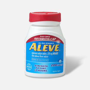 Aleve Pain Reliever, Fever Reducer, 220mg Tablets, Easy Open Cap, 200 ea