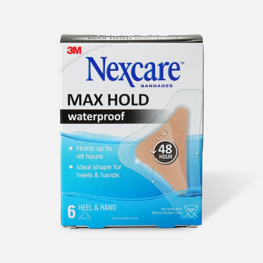 Nexcare Max Hold Waterproof Heel/Hand Bandages - 6ct, , large image number 0