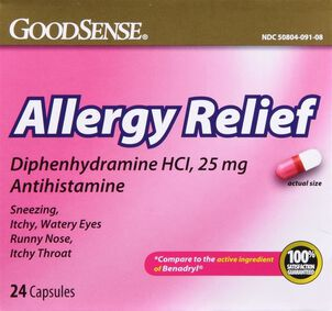 GoodSense® Allergy Relief Diphenhydramine HCI, 25 MG Capsules 24 ct