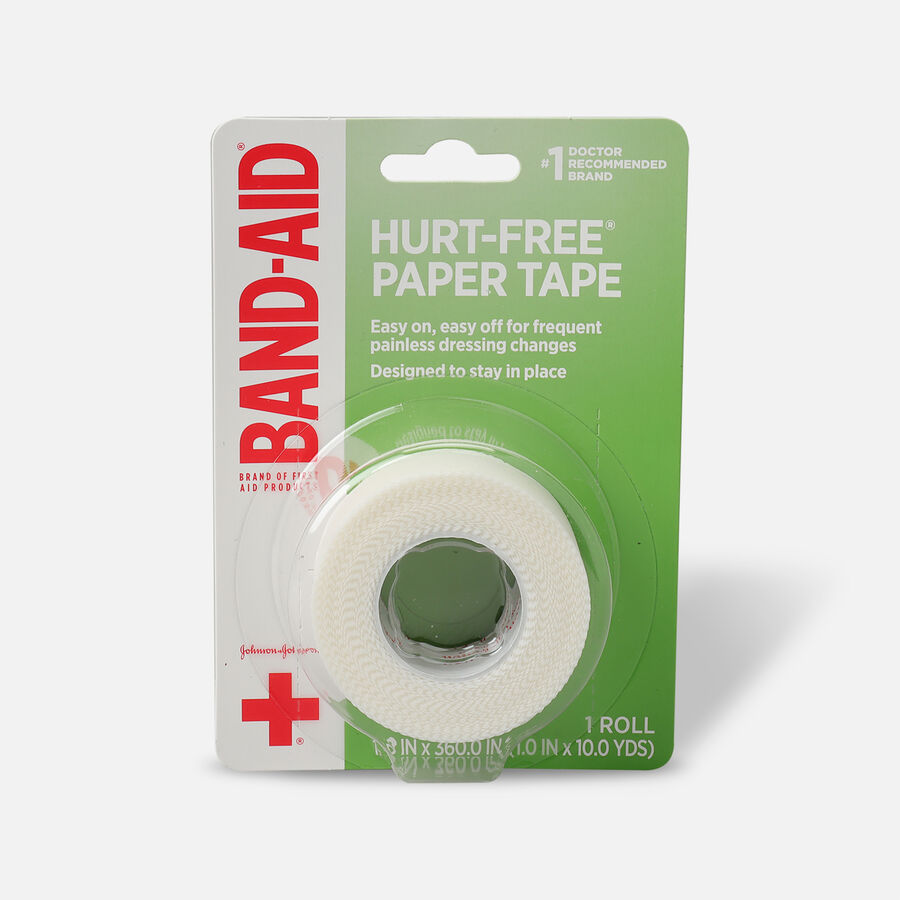 "BAND-AID® HURT-FREE® Paper Tape, 1"" x 10yds - 1 roll, , large image number 0"