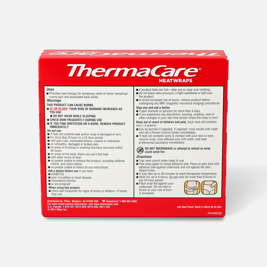 Thermacare Heat Wrap Menstrual 8HR, 3 ct, , large image number 1