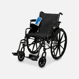 "Drive Cruiser III Lightweight Wheelchair, Swing Away Footrests, 18"", Black"