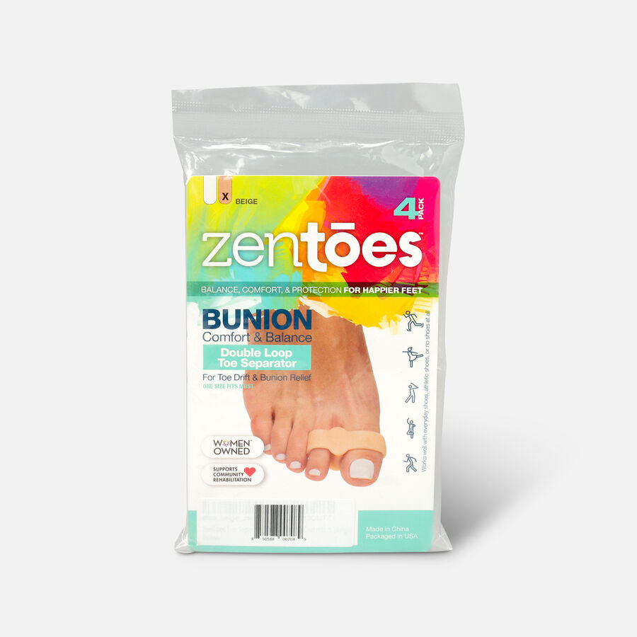 ZenToes Double Loop Toe Separator for Bunion Pain Relief - 4 Pack, , large image number 0