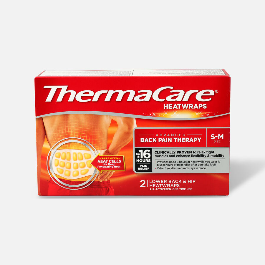 Thermacare Heat Wrap 8HR, Small/Medium, 2 ct, , large image number 0